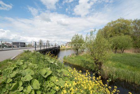 Brug Peilmolenweg over het riviertje de Alblas