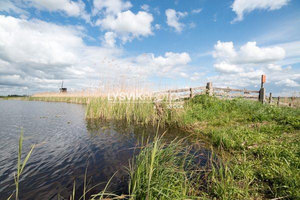Wandelpad Donkse Laagten langs de polders en het rivertje de Groote of Achterwaterschap
