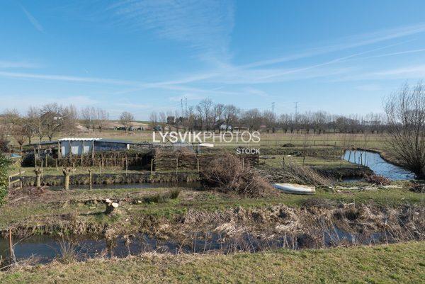 Polderlandschap bij Lekdijk Nieuw-Lekkerland