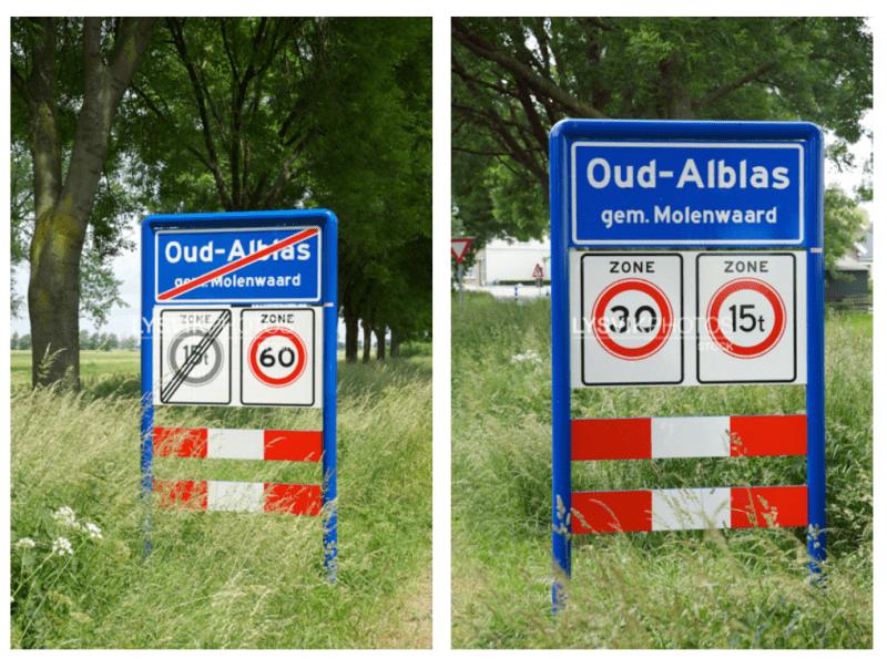 plaatsnaambord Oud-Alblas