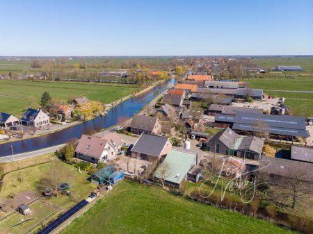 Luchtfoto de Graafstroom bij Bleskensgraaf
