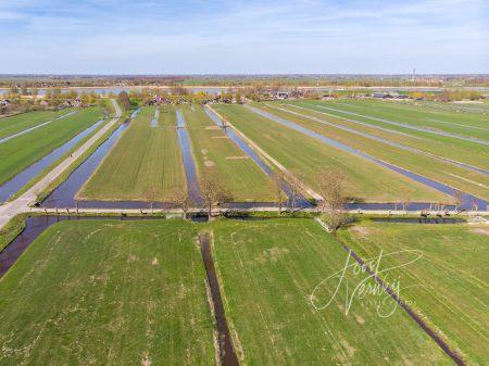 Kavelsloten in polderlandschap