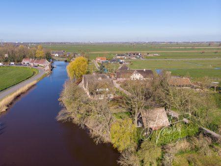 Luchtfoto riviertje de Alblas