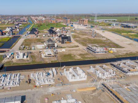 Luchtfoto Nieuwbouwproject De Eilanden Baanhoek-West Sliedrecht