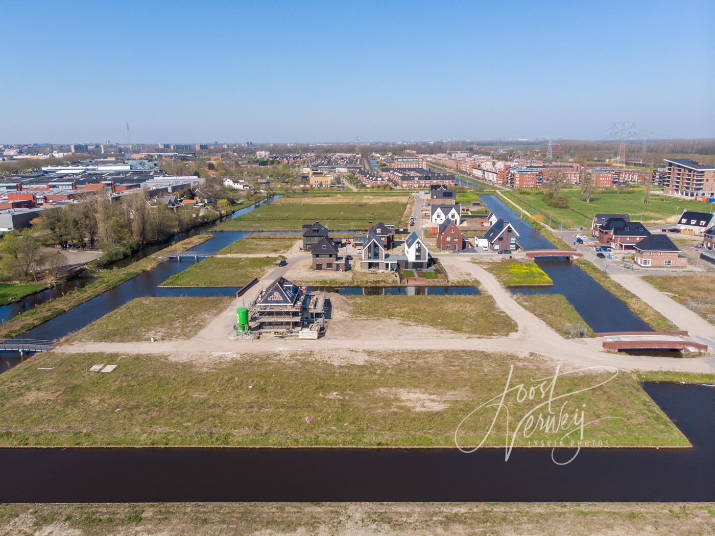 Luchtfoto nieuwbouwproject Land van Matena D00926