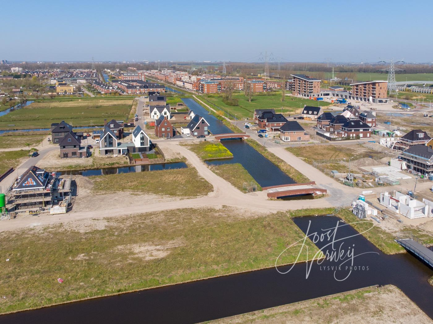 Luchtfoto nieuwbouwproject Land van Matena D00929