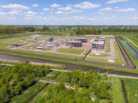 Luchtfoto gasstation Wijngaarden