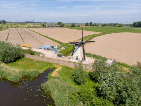 Luchtfoto Souburghse molen nadert voltooiing