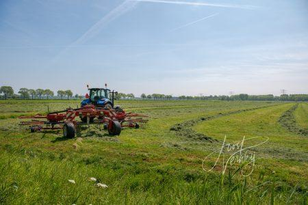Tractor in grasland
