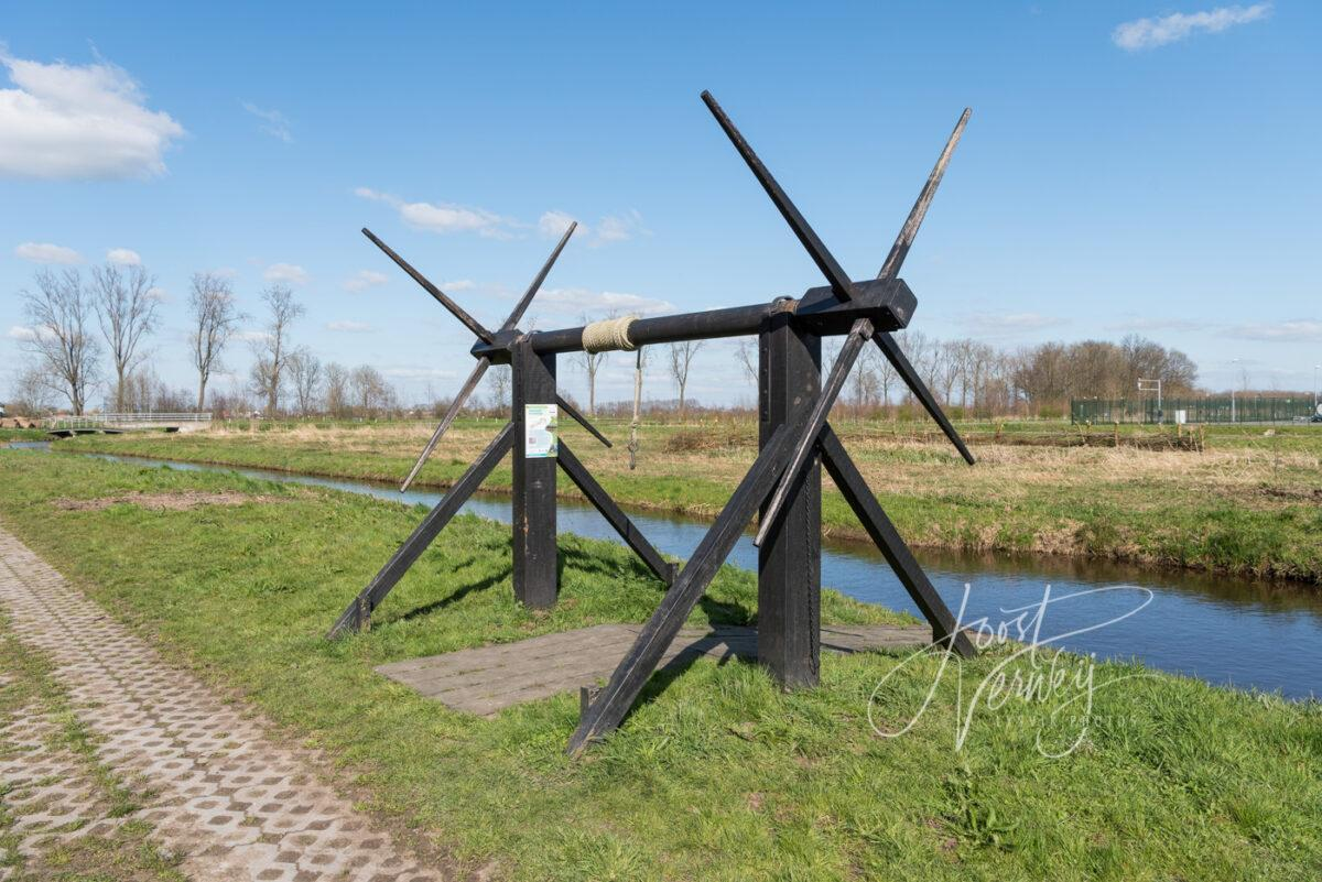 Overtoom of overhaal in polder bij Wijngaarden