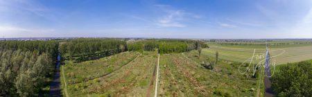 Panorama luchtfoto Alblasserbos