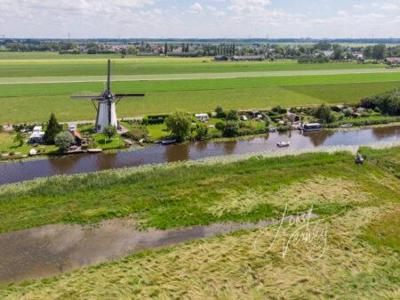 Luchtfoto Kooiwijkse molen
