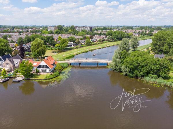 Luchtfoto Kortlandse brug