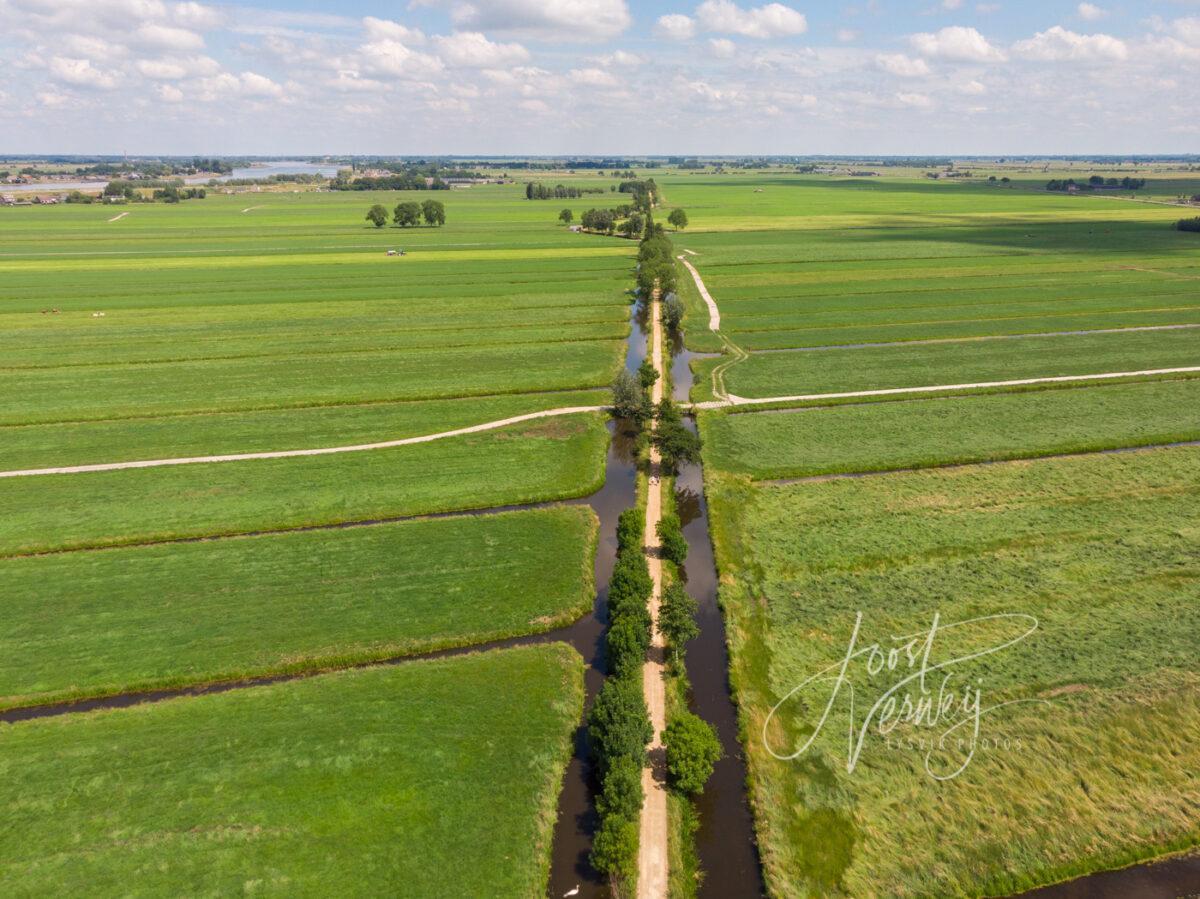 Luchtfoto Tiendweg Nieuw-Lekkerland