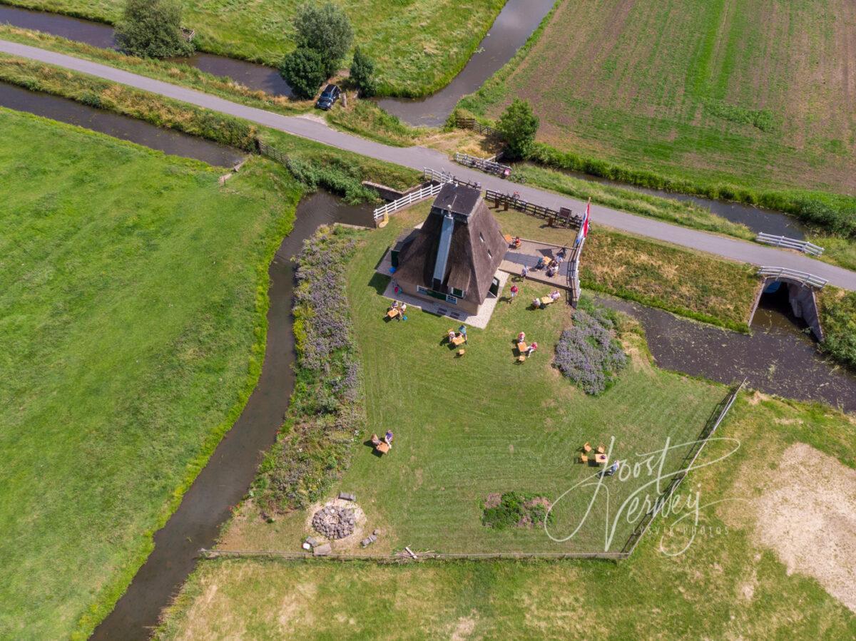 Luchtfoto Hoge Tiendwegsemolen in Streefkerk