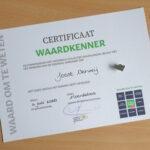 certificaat Waardkenner