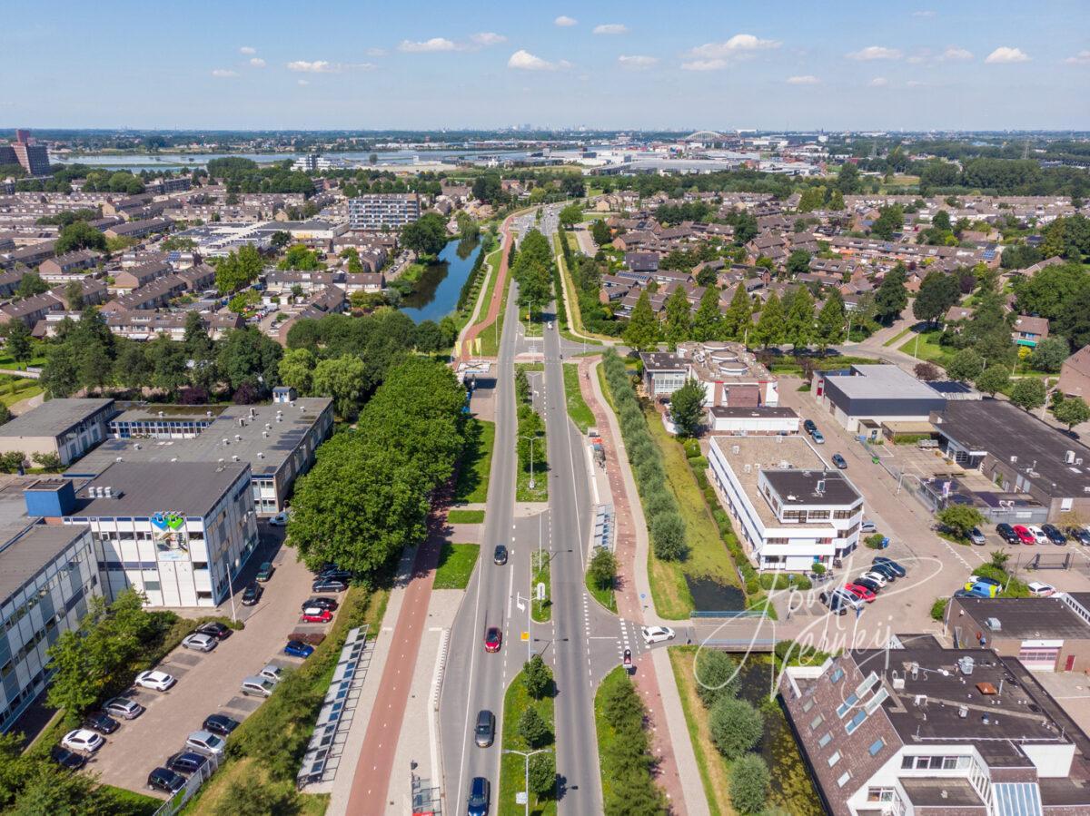 Luchtfoto Burgemeester Keijzerweg Papendrecht