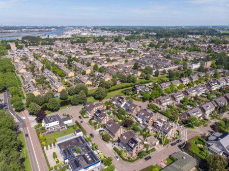 Luchtfoto wijk Westpolder Papendrecht