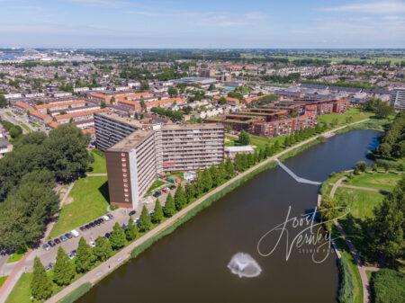Luchtfoto wijk Kraaihoek Papendrecht