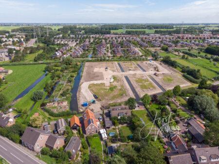 Luchtfoto wijk Oostpolder Papendrecht