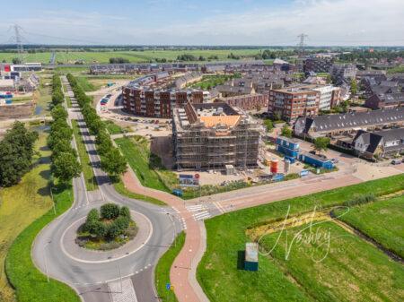 Luchtfoto nieuwbouw Baanhoek West