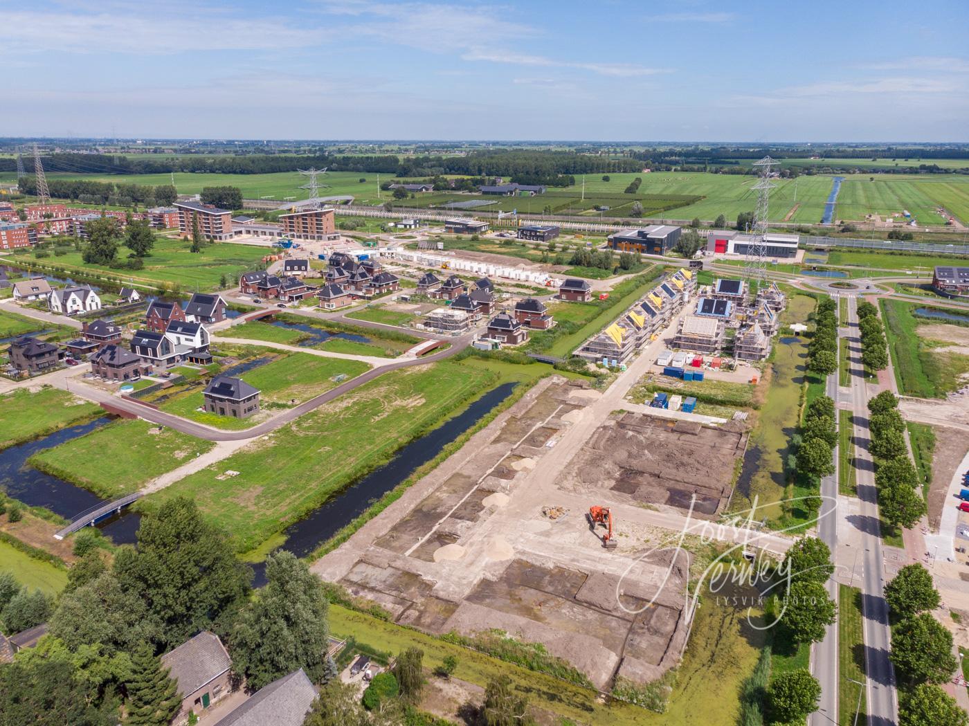 Luchtfoto nieuwbouw Land van Matena D200719495