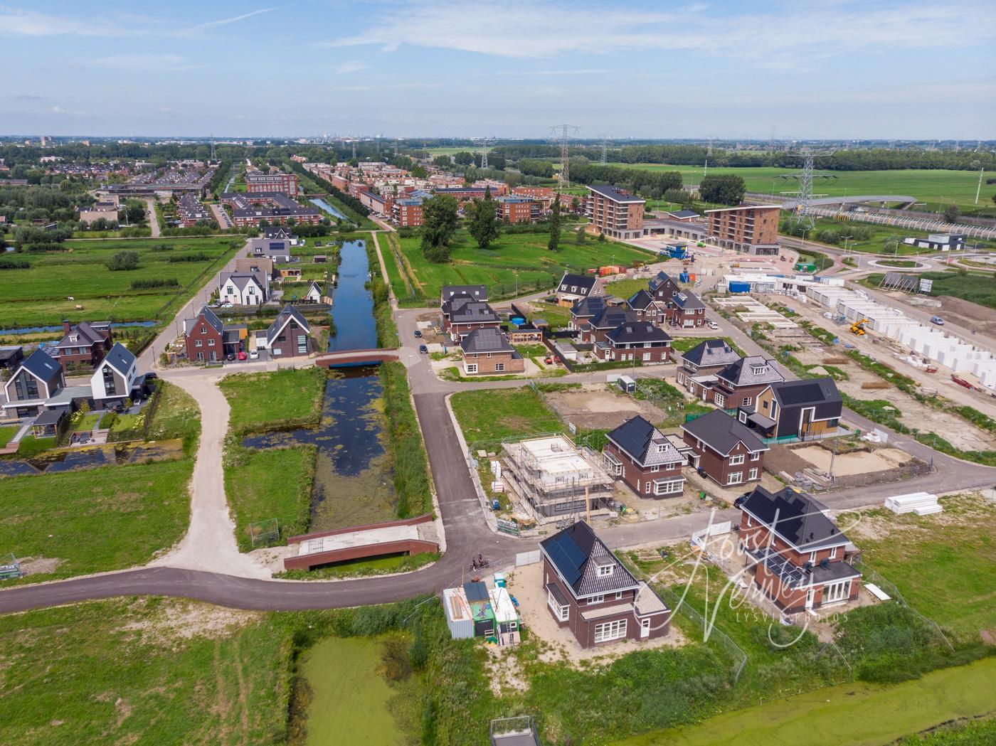 Luchtfoto nieuwbouw Land van Matena D200719507