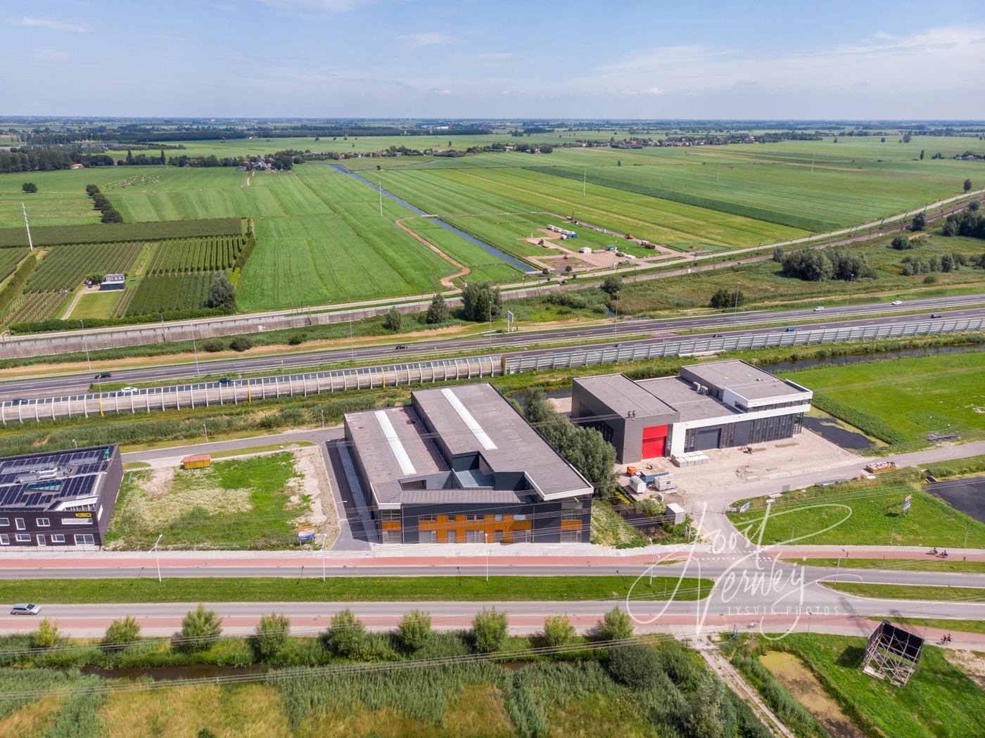 Luchtfoto bedrijventerrein Land van Matena D200719537