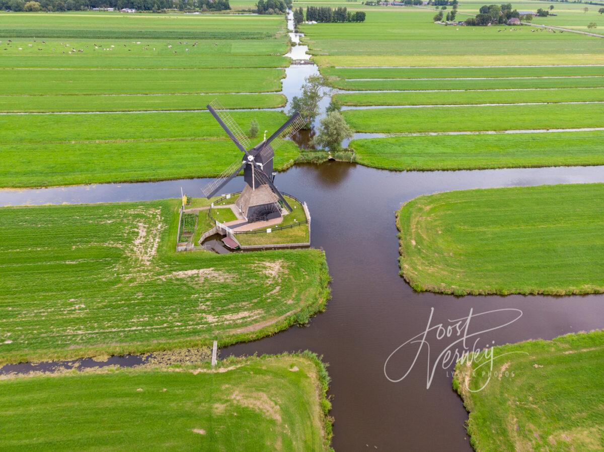 Luchtfoto Oude Weteringmolen