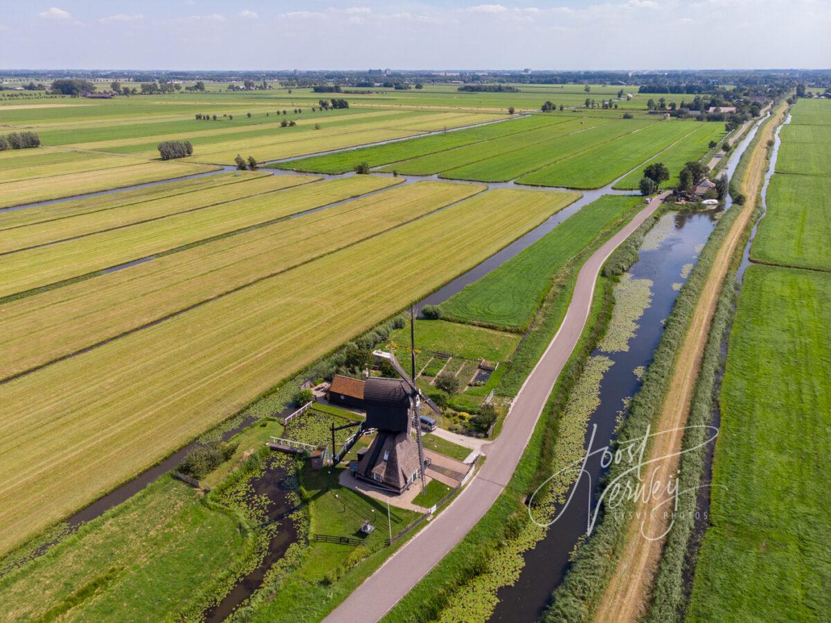 Luchtfoto Scheiwijkse molen