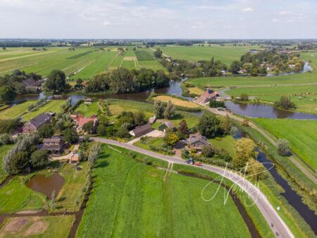 Luchtfoto riviertje de Giessen