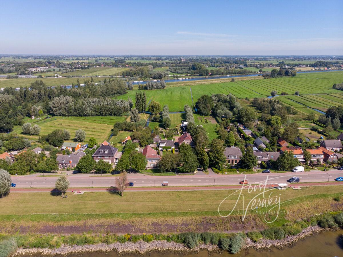 Luchtfoto Rivierdijk en Kanaal van Steenenhoek
