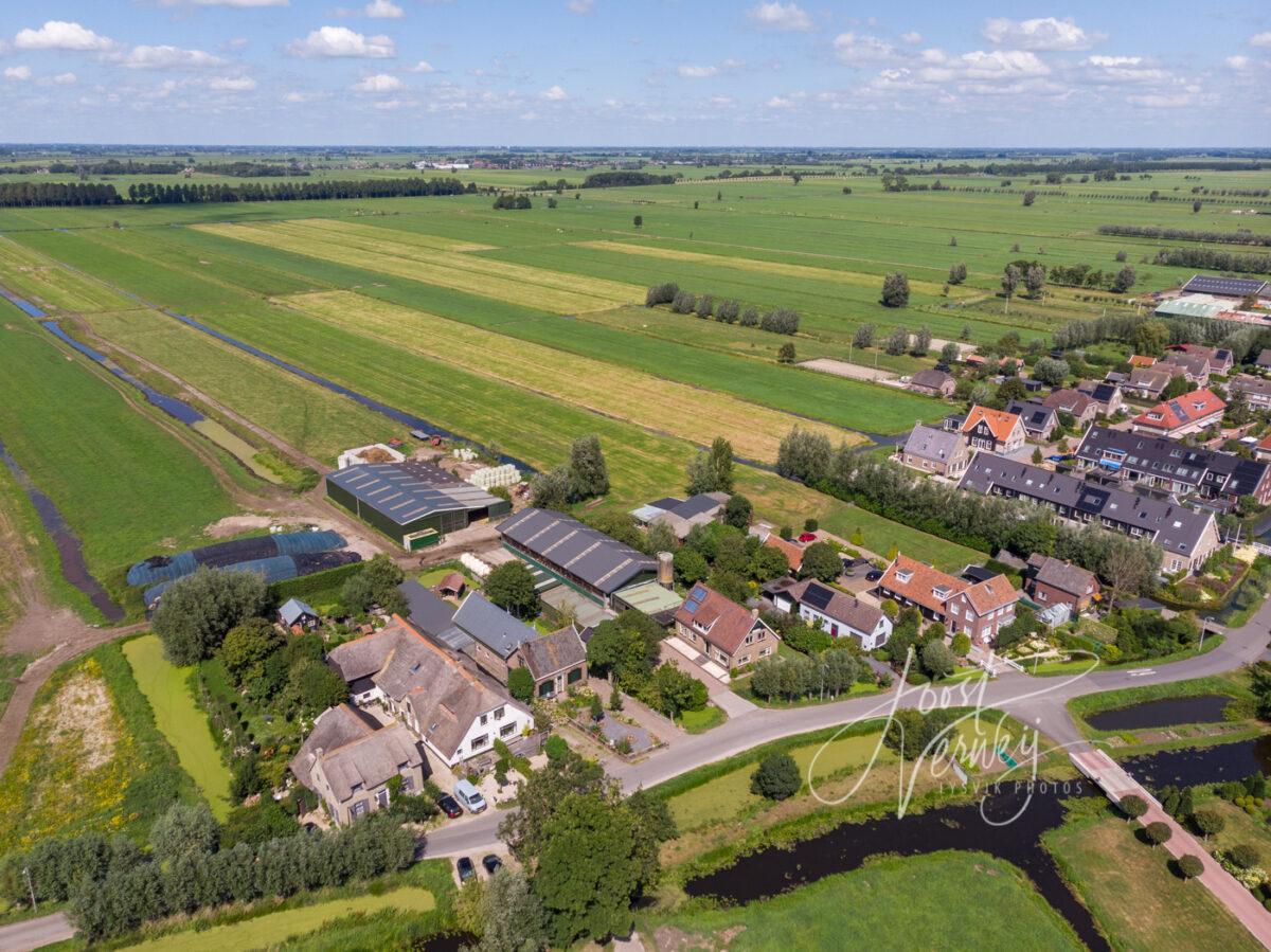 Luchtfoto Westeinde Wijngaarden