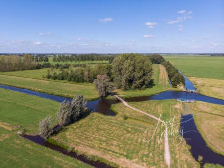 Luchtfoto Kraaienbos in Wijngaarden