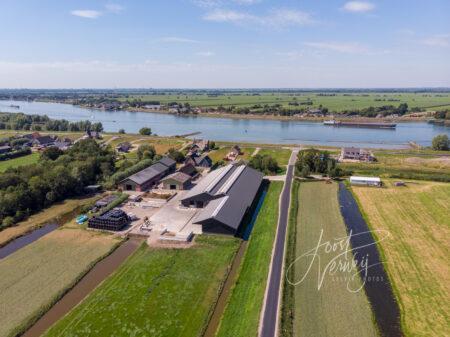 Luchtfoto Zijdeweg in Streefkerk