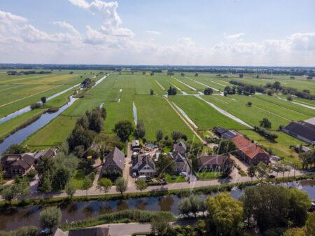 luchtfoto polders achter Bleskensgraaf