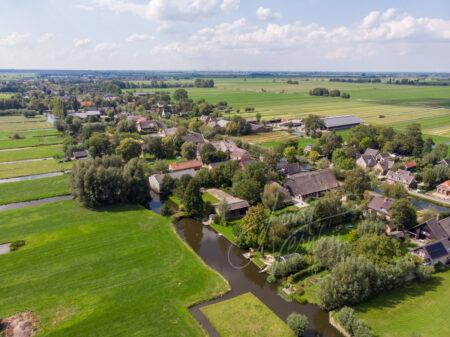 Luchtfoto Gijbelandsedijk en de Graafdijk West