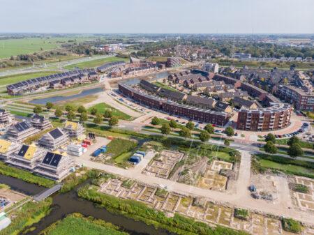 Luchtfoto nieuwbouwproject De Eilanden Baanhoek-West