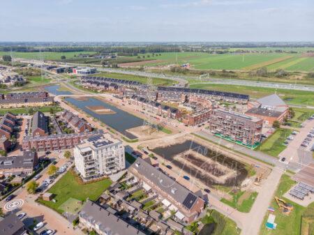 Luchtfoto nieuwbouw Baanhoek-West