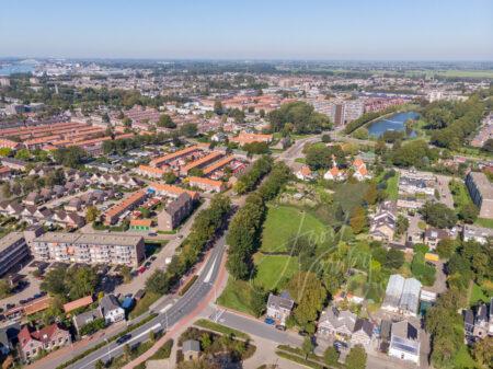 Luchtfoto wijk Kraaihoek in Papendrecht