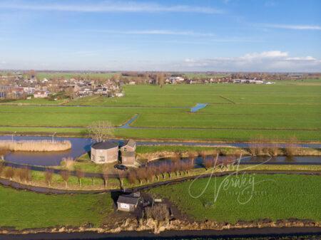 Luchtfoto Grotewaard in Noordeloos