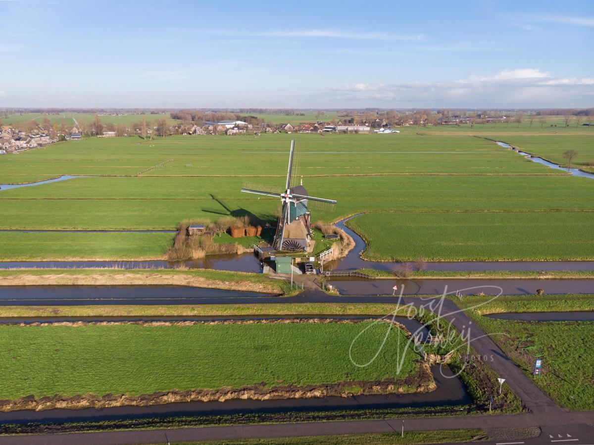 Luchtfoto Boterslootse molen
