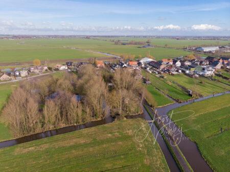 Luchtfoto Dorpsweg Hoornaar