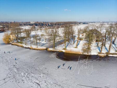 Luchtfoto Hof Souburgh in de winter