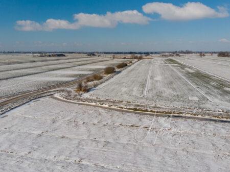 Luchtfoto winterse Alblasserwaard