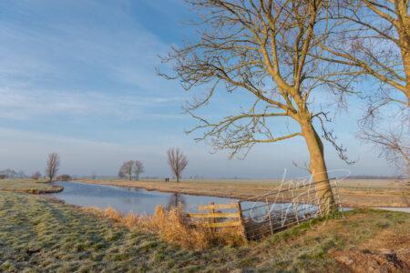 Wintermorgen in de Alblasserwaard