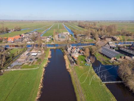 Luchtfoto poldergebied bij Molenaarsgraaf