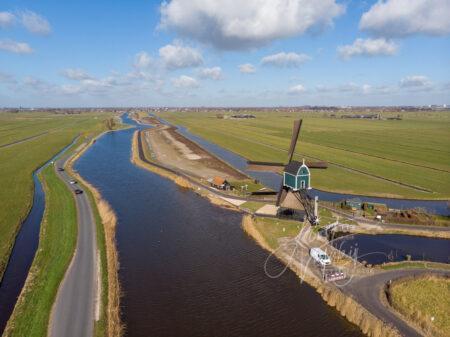 Luchtfoto Achterlandse molen