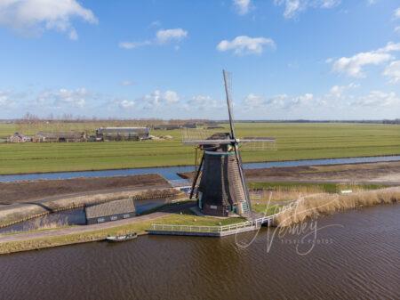 Luchtfoto Achtkante molen
