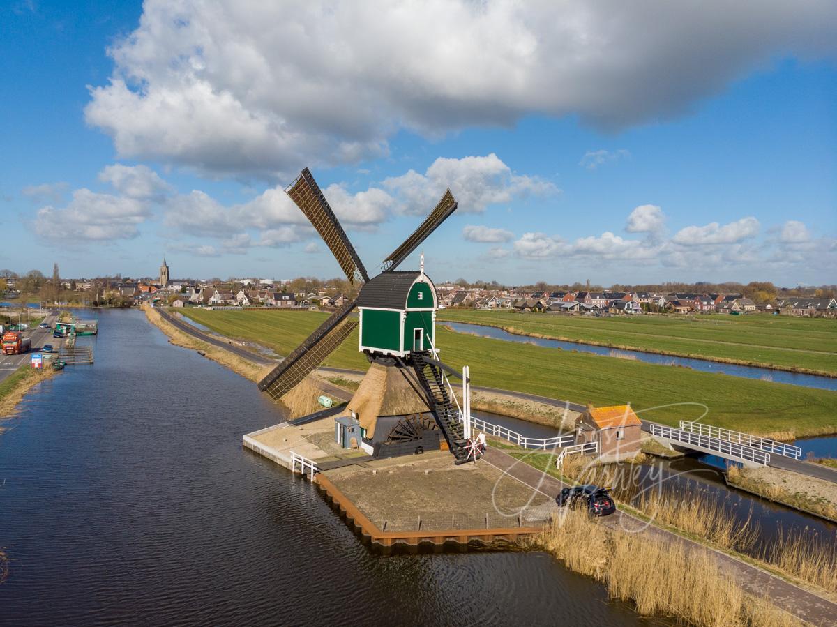 Luchtfoto Gelkenes molen